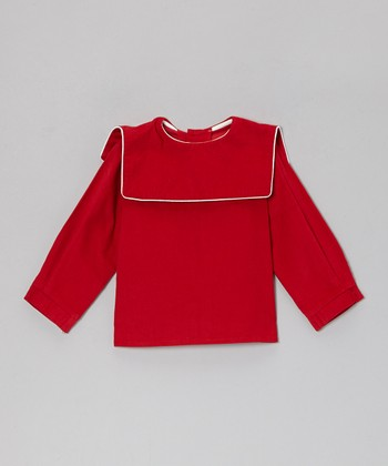 Red Barrett Square Collar Corduroy Shirt - Infant, Toddler & Boys
