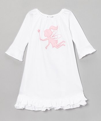 White Pink Fairy Elizabeth Dress - Infant, Toddler & Girls