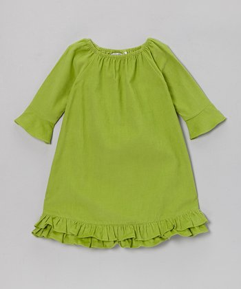 Green Elizabeth Corduroy Dress - Infant, Toddler & Girls