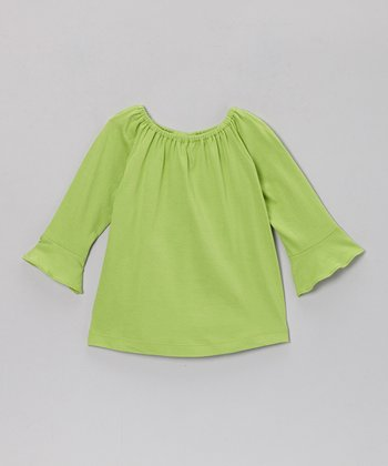 Green Elizabeth Top - Infant, Toddler & Girls