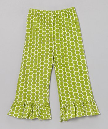 Green Polka Dot Katie Knit Pants - Infant, Toddler & Girls