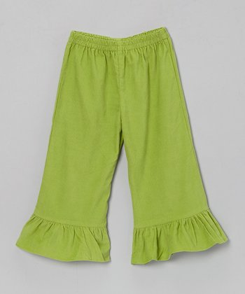 Green Katie Corduroy Pants - Infant, Toddler & Girls
