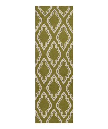 Avocado & Ivory Fallon Wool Rug
