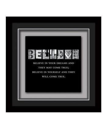 'Believe in Your Dreams' Framed Plaque