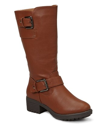 Light Brown Buckle Boot