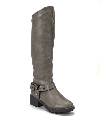 Gray Tall Boot