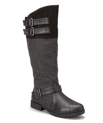 Black Knee-High Riding Boot
