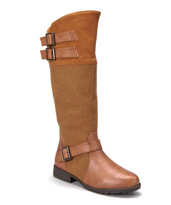 Light Brown Knee-High Riding Boot