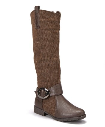 Brown Tweed Boot