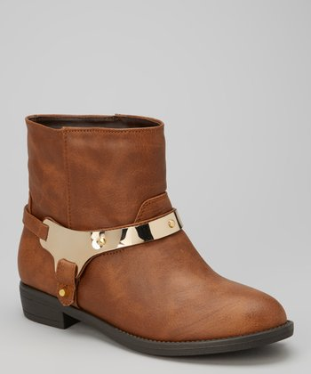 Tan Plated Tom Boot