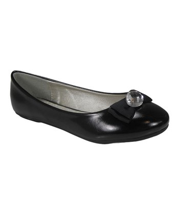 Black Bow Baci Flat