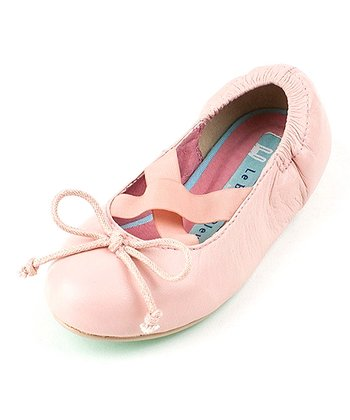 Pink Terri Leather Ballet Flat