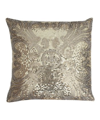 Gold Ludo Sequin Throw Pillow