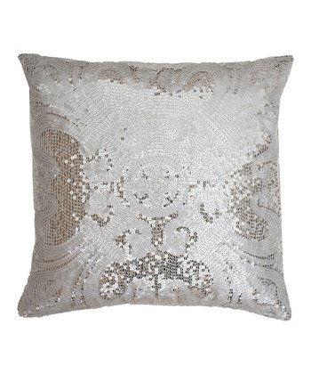 Silver Ludo Sequin Pillow