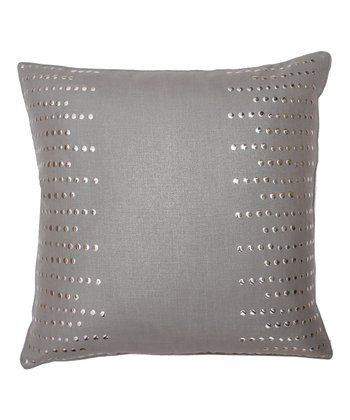 Frost Gray Nail Line Pillow