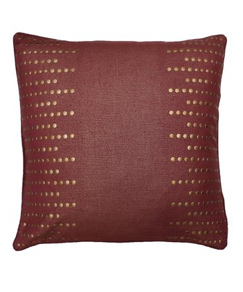 Rhumba Red Nail Line Pillow