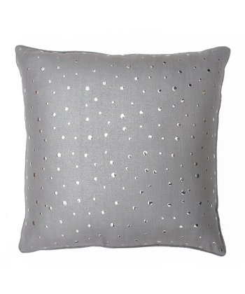 Frost Gray Nail Head Pillow