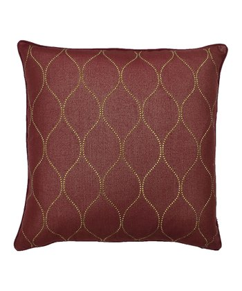 Rhumba Red Trellis Stud Pillow