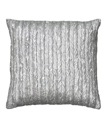 Silver Twine Pattern Pillow