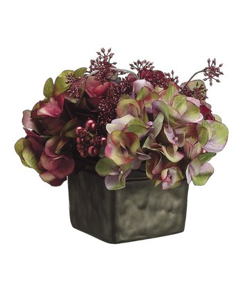 Red & Green Flower Pot Arrangement