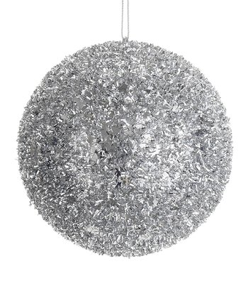 Silver Glittering Ball Ornament