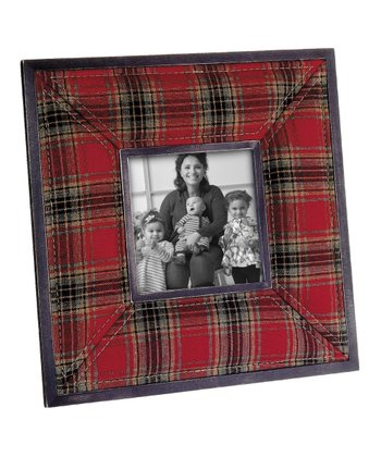 Large Plaid Photo Frame