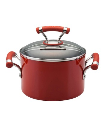 Red 3-Qt. Covered Saucepot