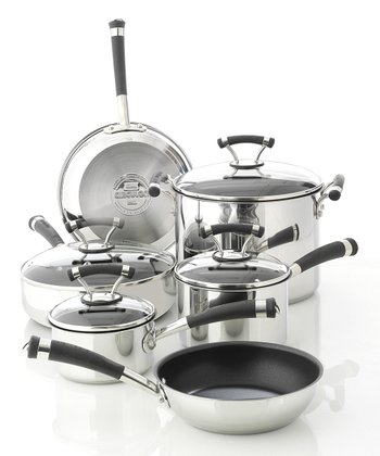 Contempo Stainless Steel Nonstick 10-Piece Cookware Set