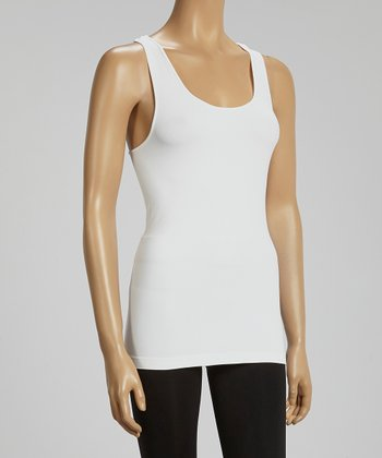 White Racerback Tank - Women & Plus