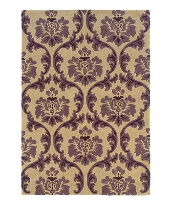 Ivory & Purple Trio Collection Rug