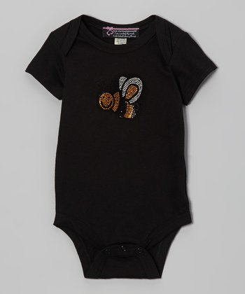 Black Flying Bee Bodysuit - Infant