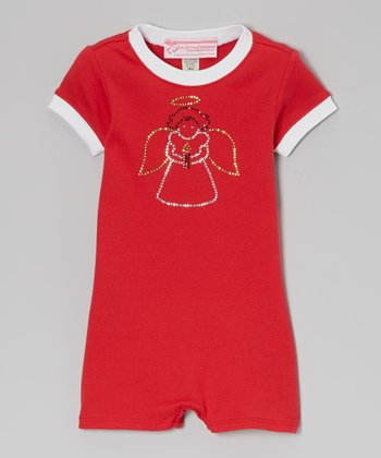 Red Angel Romper - Infant
