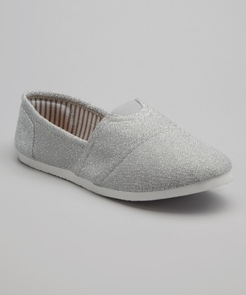 White Glitter Go Slip-On Shoe
