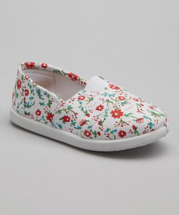Red Floral Go Slip-On Shoe