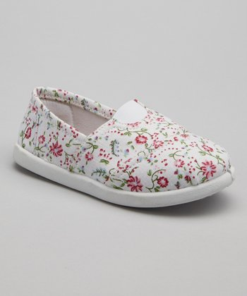 Fuchsia Floral Go Slip-On Shoe