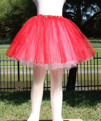 Red & White Reversible Tutu