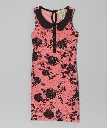Pink Rose Keyhole Dress