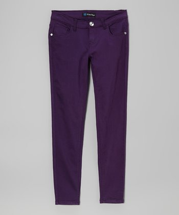 Purple Skinny Jeans - Toddler & Girls