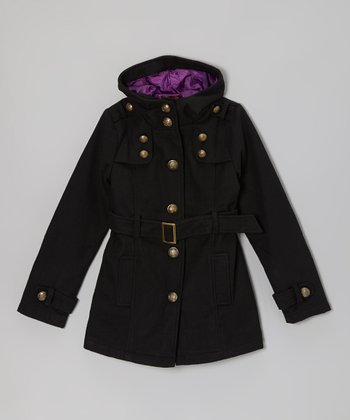 Blackthorn Hooded Military Coat - Girls