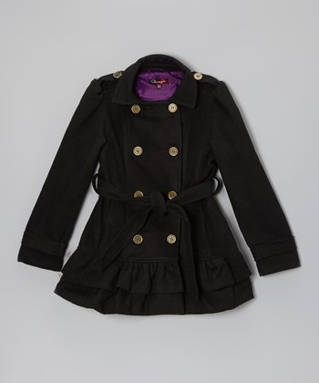 Blackthorn Belted Ruffle Coat - Toddler & Girls