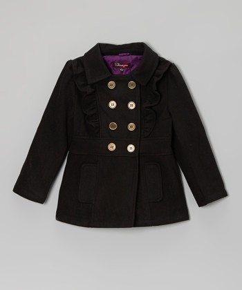 Blackthorn Ruffle Front Double Breasted Jacket - Toddler & Girls
