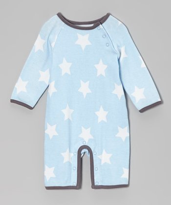 Blue & White Star Romper