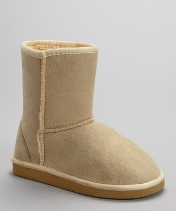 Beige Short Boot