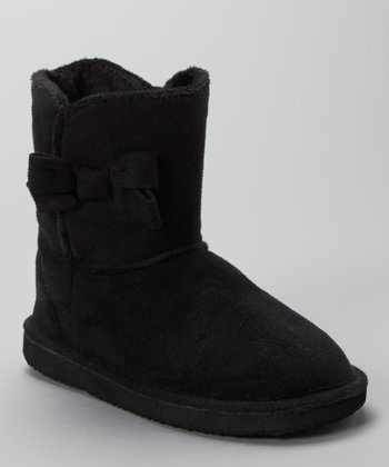 Black Bow Short Boot