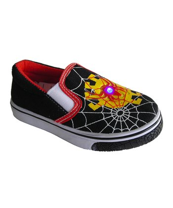 Black Web Light-Up Slip-On Shoe