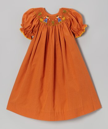 Orange Scarecrow Bishop Dress	- Infant, Toddler & Girls