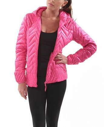 Hot Pink Ultra-Light Jacket - Women