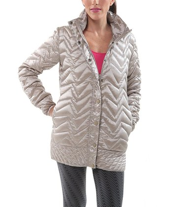 Silver Ultra-Light Long Jacket - Women