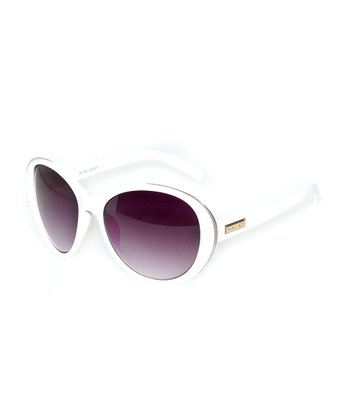White & Purple Mod Sunglasses