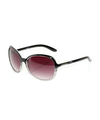 Black & Gray Stripe Sunglasses